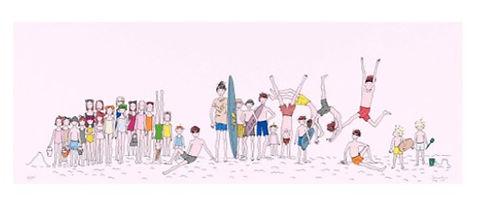 Serigrafia de Joana Rosa, título: Boca de Rio