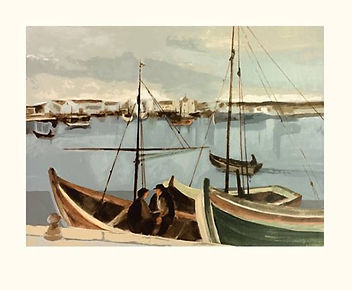 Serigrafia de Oskar Pinto Lobo, Barcos