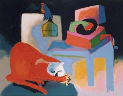 Serigrafia de Roberto Chichorro, Gato Músico