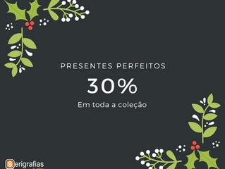 CAMPANHA DE NATAL 30% DE DESCONTO