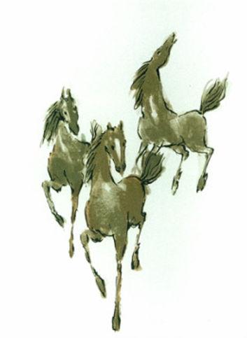 Serigrafia de Oskar Pinto Lobo, Cavalos