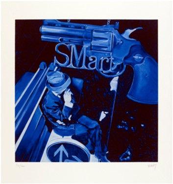 Serigrafia do artista plástico Jacques Monory