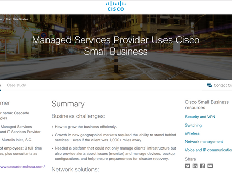 Cisco Case Study: Managed Services Provider Uses Cisco Small Business
