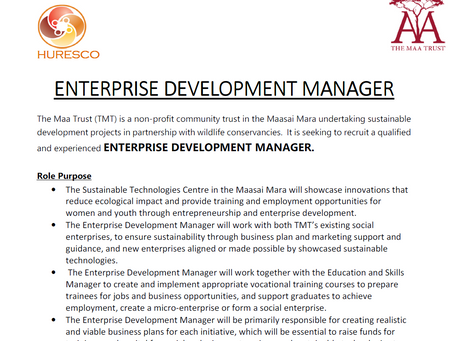 JOB VACANCY -ENTERPRISE DEVELOPMENT MANAGER.