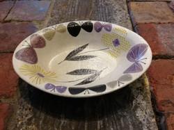 森野奈津子 色化粧楕円鉢