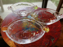 沖口こずゑ ビー玉楕円ミニ鉢