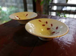 巌陶房 赤葉反り鉢 小