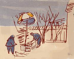Sketch in village