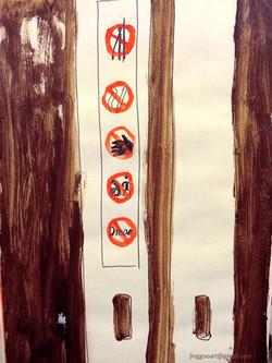 Beijing subway door