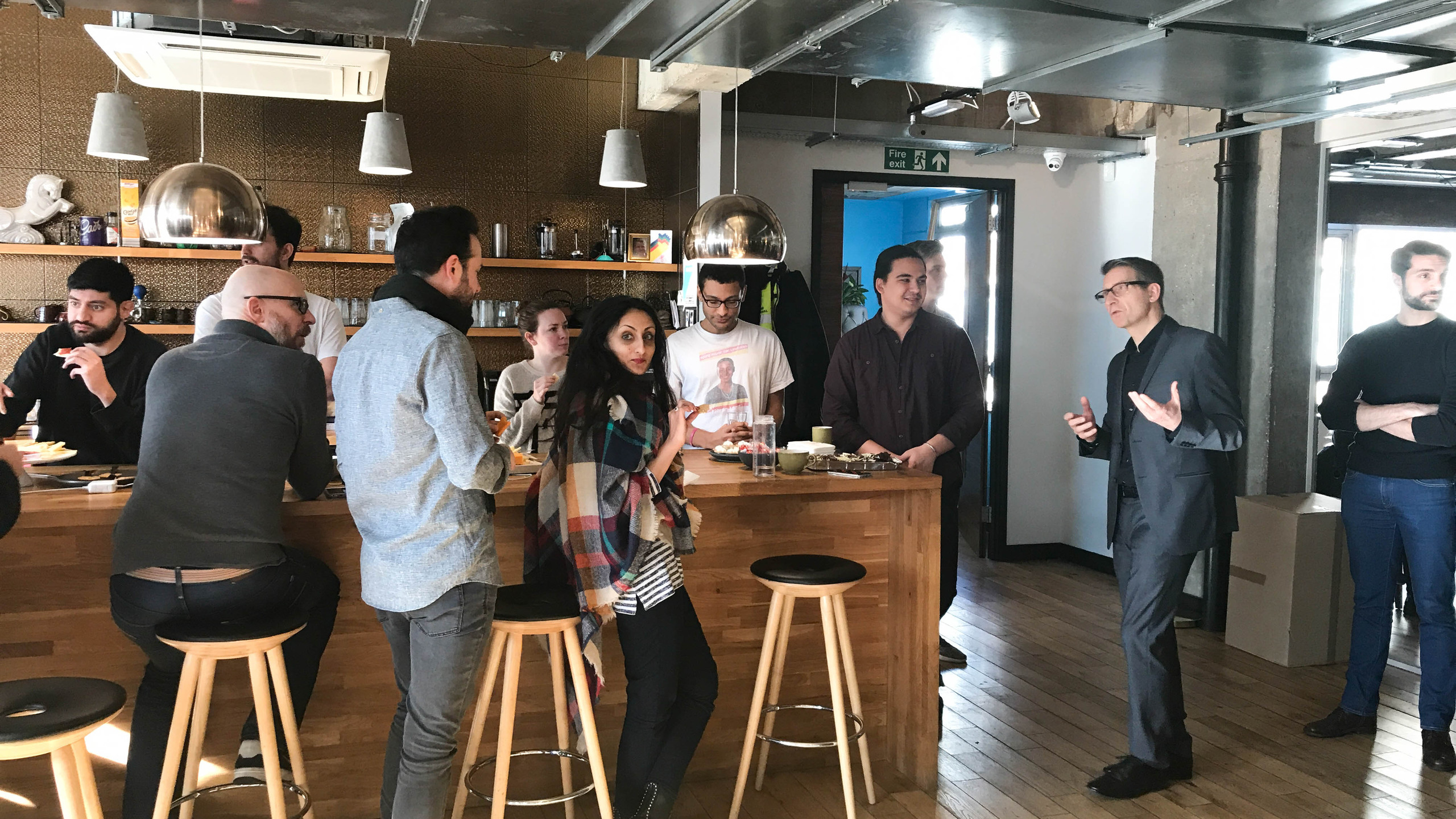Mingling with local entrepreneurs