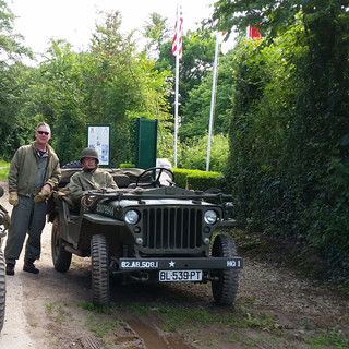 jeeps in Historical site