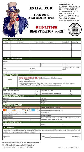 registration form ALL year  dday reenact