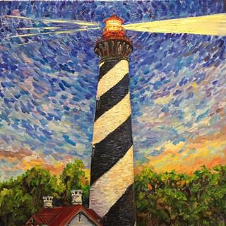 St. Augustine Light at Dusk