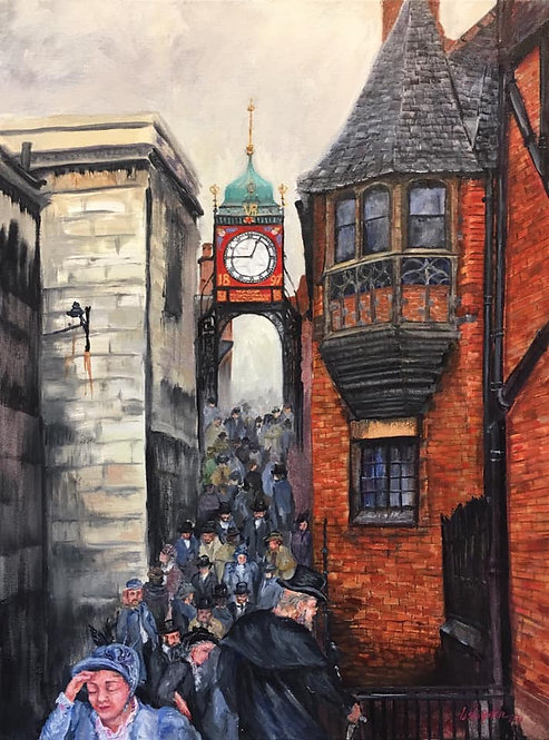 Her Majesty's Jubilee Clock, Chester Eastgate - PRINT