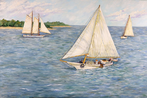 Skipjacks on the Chesapeake - PRINT