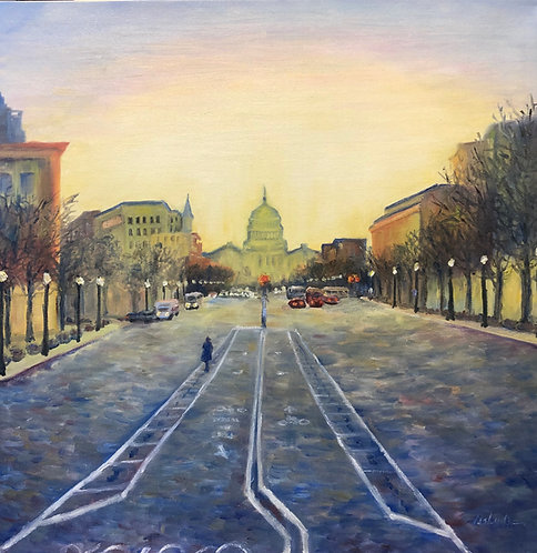 Capitol Hill at Dawn