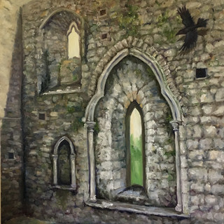 Windows of Burriscarra Abbey