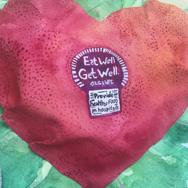 Meridith McNeal, Eat Well, Get Well. Reform Food Served in Hospitals, watercolor on sculpted paper (detail)
