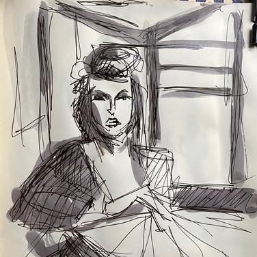 Marie Roberts, , Advanced Studio May 18, Pose 1a