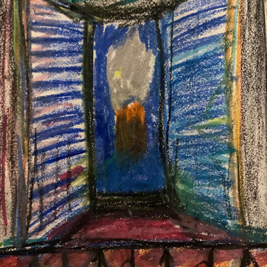 Vera Tineo, Image 2 Zoom Visualization 4/20, pastel on paper