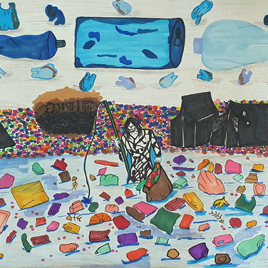 Sarah Gumgumji, Ecology and reform for use of Plastics, drawing