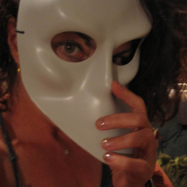 """Meridith McNeal, Me in a mask from the theatrical production """"Sleep No More"""""""
