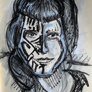Marie Roberts, Angelica Portrait 1, Advanced Studio Zoom, Apr. 27, 2020
