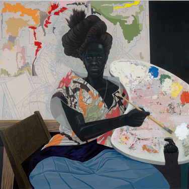 "Kerry James Marshall, ""Untitled, 2009, Acrylic on PVC panel"