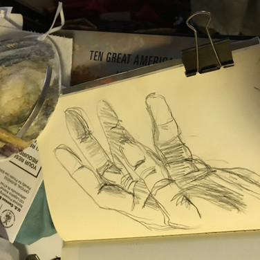 """Félix Plaza, """"Drawing of My Hand"""""""