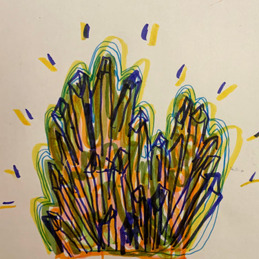 Abriel Gardner, Guided Visualization (a gift), 2020, marker on paper