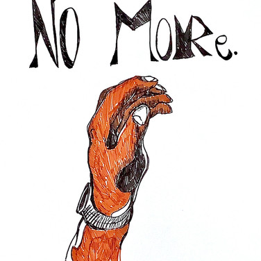 August Levenson, No More, 2020, marker on paper