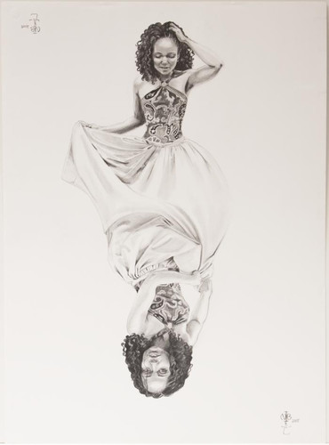 Nina Buxenbaum, Dualities of Nina, 2005, Graphite on paper, 30x22""