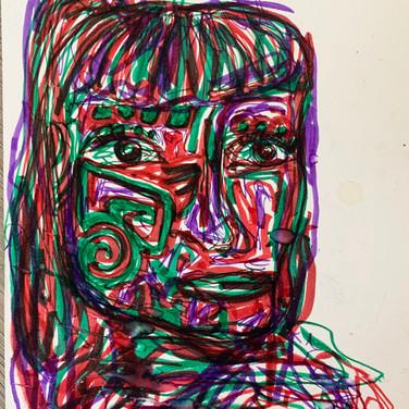 Abriel Gardner, Angelica Portrait 2, Advanced Studio Zoom, Apr. 27, 2020