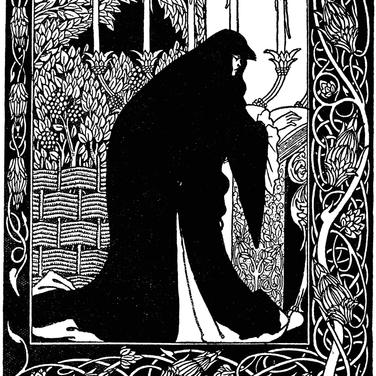 Aubrey Beardsley, Morte D'Arthur, 1893-94, pen and ink