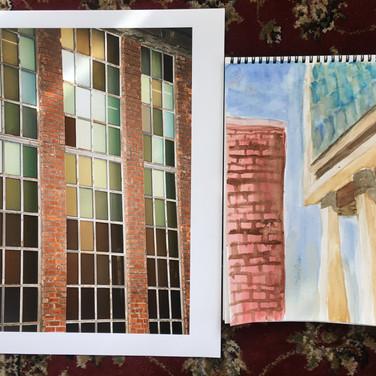 "Jane Huntington, ""The High Line"", photograph and painting"