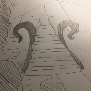 Akash Wilmont, Guided Visualization (stairs), 2020, pencil on paper