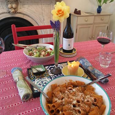Meridith McNeal, Dream Pasta Quarantine Dinner, 2020, photograph