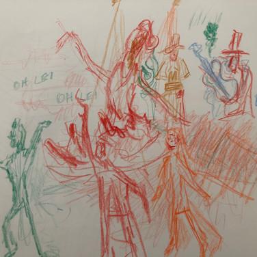 Quentin Williamston, Image 3 Zoom Visualization 4/20, colored pencil on paper