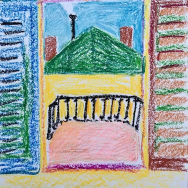 Evelyn Beliveau,  Image 2 Zoom Visualization 4/20, pastel on paper