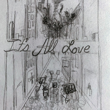 Ardelia Lovelace, It's All Love, 2020, charcoal pencil on paper