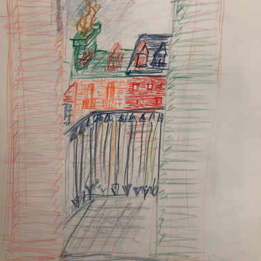 Quentin Williamston,  Image 2 Zoom Visualization 4/20, colored pencil on paper
