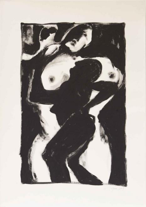 "Richard Gins, Inner Dance, 2009, Acrylic on paper, 27.25x19.25"""