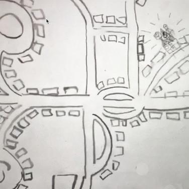 """Jane Huntington, """"Quarantine Map"""""""