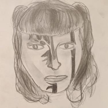 Zeke B., Angelica Portrait 1, Advanced Studio Zoom, Apr. 27, 2020