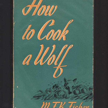 Bookcover How To Cook A Wolf, photograph Meridith to Evelyn