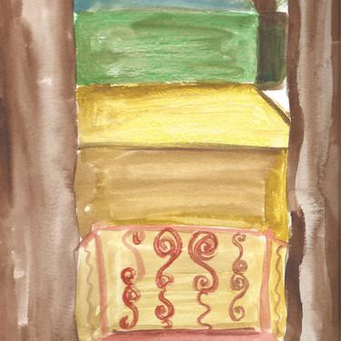 Sarag Gumgumji,  Image 2 Zoom Visualization 4/20, paint on paper