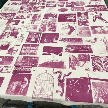 """Felix Plaza, """"Canto del inmigrante"""", 2020, silkscreen on sheet"""
