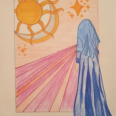 Sarah Gumgumji, Hope, 2020, colored pencil on paper