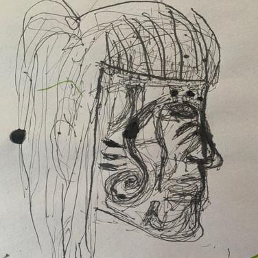 Abriel Gardner, Angelica Portrait 3, Advanced Studio Zoom, Apr. 27, 2020
