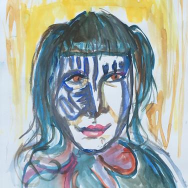 Jane Huntington, Angelica Portrait 1, Advanced Studio Zoom, Apr. 27, 2020